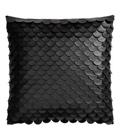 Product Detail | H&M US, faux leather palette pillow cover in black