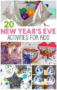 New Year's Eve Activities For Kids - I Heart Arts n Crafts 20 New Year's Eve. New Year's Eve Activities For Kids - I Heart Arts n Crafts 20 New Year's Eve Party Ideas for food, games, and craf New Years With Kids, Kids New Years Eve, New Years Party, New Years Eve 2018, New Year's Eve Crafts, Holiday Crafts, Holiday Fun, Crafts For Kids, Party Crafts