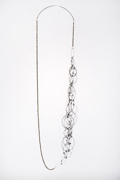 Tina Rath Tangled Circles 7 2015 sterling silver + faceted pyrite