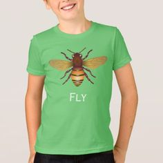#Fly Insect on Kids' Jersey T-Shirt - #giftideas for #kids #babies #children #gifts #giftidea