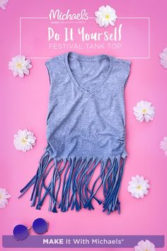 Festival season is here! What better way to jam-out to your favorite lineup than with your own DIY fringe tee? MAKE it your own and keep it easier than ever to stay style-forward. Just follow the complete how-to on Michaels popular on Pinterest page!
