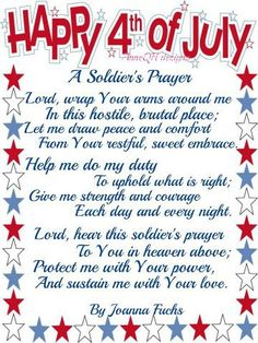 A Soldier's Prayer.  God, please bless each one.