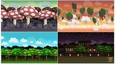 Free Game Assets – Game Graphics, Sprites Sheet and Backgrounds Free Game Assets, Game Themes, Game Background, Free Games, Pixel Art, Graphics, Graphic Design, Printmaking