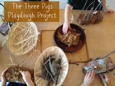 The children love this activity! fairydustteaching.com/2013/09/the-three-little-pigs-playdough/