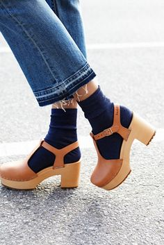 Swedish Hasbeens Lotta Clog at Free People Clothing Boutique