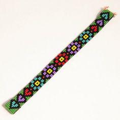 Guatemalan Fantasy Bead Loom Bracelet Artisanal por PuebloAndCo