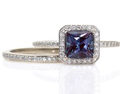 My birthstone...real alexandrite changes color depending on the light...gorgeous!
