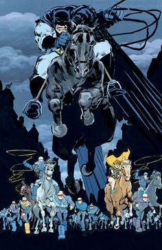 Batman: The Dark Knight Returns by Frank Miller Batman The Dark Knight, Batman Dark, Im Batman, Batman Arkham, Batman Comics, Batman Robin, Marvel Wolverine, Arte Dc Comics, Gotham City