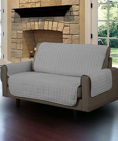 This Gray Love Seat Pet Protector Slip Cover by Linen store is perfect! #zulilyfinds