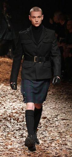 love a man in a skirt                     McQ by Alexander McQueen autumn/winter 2012