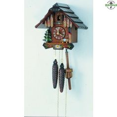 Chalet Cuckoo Clock With Flowers