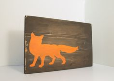 Fox wood sign  Fox home decor rustic wall by RusticallyChicStudio, $25.00