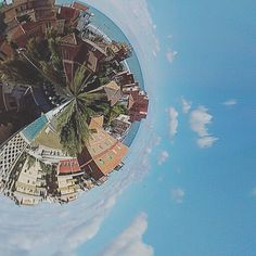 First experiment! #tb to pleasant surprises     #italia #littleplanet #siena #blue #sky #travel