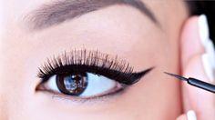 HOW TO: Apply Liquid Eyeliner For Beginners   chiutips