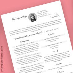 Free solicitor CV template