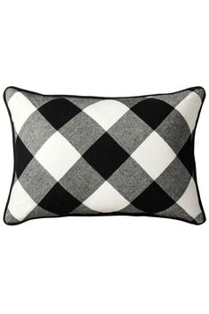 Adam Lippes for Target Pillow in Black/White Plaid, $25, available at Target. #refinery29 http://www.refinery29.com/2015/08/92337/adam-lippes-target#slide-36