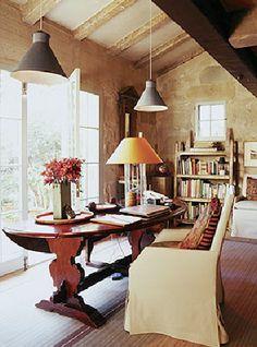 Lovely Home Office by Designer John Saladino