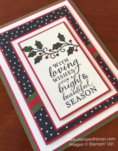 Embellished Ornaments, Stampin' Up!, Brian King, GDP011, Christmas card