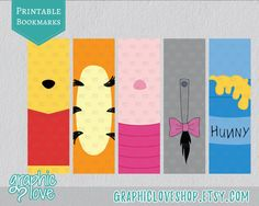 Winnie the Pooh Inspired Printable Bookmarks by GraphicLoveShop