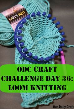 Loom knitting is a fun and easy way to get started knitting, or a different way to make knit fabric if you're already a knitter. Bind Off Knitting, Knitting For Kids, Loom Knitting, Washi Tape Crafts, Fabric Crafts, Sewing Crafts, Washer Crafts, Circular Loom, Ribbon Organization