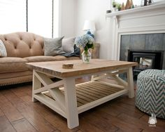 """Our AX coffee table has a rustic farm-inspired design that will warm any space. Made from pine and spruce, each table is sanded smooth for the perfect finish. Each table includes your choice of stain, with optional matching stain base or painted base and a clear coat finish. Specifications Extra small: 36"""" L x 22""""…"""