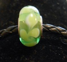 High Quality Green Twisted Glass Bead on Etsy, $1.50