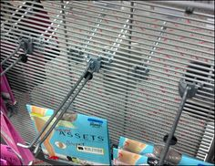 See-thru Slatwire Sight Leak Closeup See Through, Grid, Hooks, Retail, Concept, Color, Colour, Wall Hooks, Sleeve