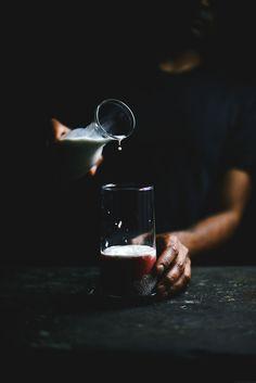 @abrowntable making Rose & Strawberry Almondmilk Falooda