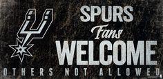 ~San Antonio Spurs Wood Sign Fans Welcome 12x6~backorder