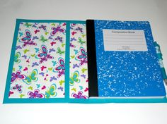 Duct Tape Composition Book Notebook Cover by TiedUpInTape