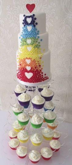 Rainbow cake. - cake decorating website