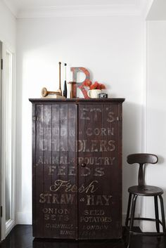 Sign turned cabinet via The Quintessential Magazine