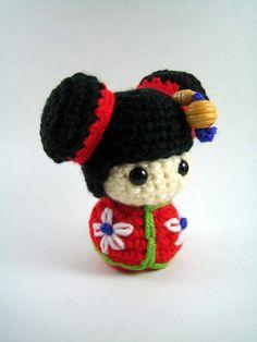 Turning Japanese, yes I'm turning Japanese I really think so:  Chibi Kokeshi Doll Amigurumi by Susan Morishita