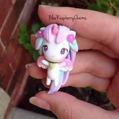 """1,590 Likes, 61 Comments - ❤️Hey! Welcome  On Hiatus (@blueraspberrycharms) on Instagram: """"Hey guys!!! Today I made a little pastel unicorn inspired by the AMAZING @thelittlemew ❤️…"""""""