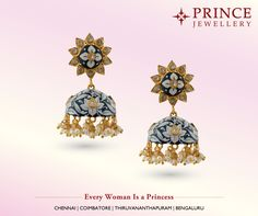 Beautiful ornament defines a beautiful princess. Match your ethnic attire with these stylish earring moulded with gold polish from Prince Jewellery. Silver Ornaments, Gold Polish, Ethnic, Jewellery, Princess, Stylish, Earrings, Beautiful, Ear Rings
