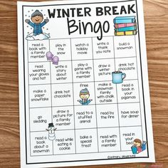 Free Printable Winter Break Bingo - Primary Playground