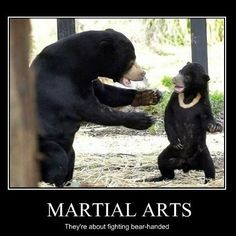 And always remember to come to class with bear-feet!  #martialarts #lifestyle #selfimprovement #education #mixedmartialarts #karate #judo #martialartstricking #taekwondo #tkd #juijitsu #bjj #martialartslife #fitness #gymlife #workout #kids #training #selfdefense #goals #ninja #kids #teens #adults