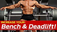 How To Increase Bench Press & Deadlift (KILLER Strength Training Workout)