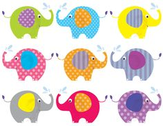 Baby Elephant Clip Art Elephant Animals Clipart Cute Pink Digital Elephant Theme Commercial Personal Use Teacher Supply 10425. $6.90, via Etsy.