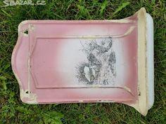 100 let starý smalt. věšák na ručník a mýdlo - obrázek číslo 1