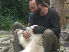 Herr Dörflein und Eisbär Knut