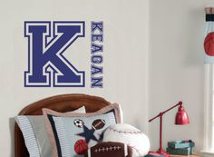 Teen Wall Decal Sports Name Baby Nursery Decor by AllOnTheWall, $26.00