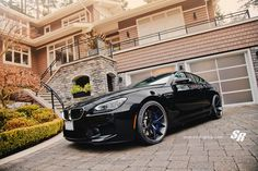 BMW by SR Auto. This beast is somewhere cruising the streets of Vancouver (nice house too) Bmw M6, Roush Mustang, Bmw M Series, Bavarian Motor Works, Bmw Autos, Sweet Cars, Car Tuning, Bmw Cars, Car Manufacturers