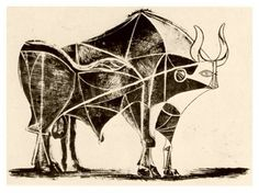 Pablo Picasso | Bull: a master class in abstraction | 'Bull - plate 5', December 24, 1945 (lithograph)