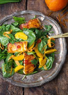 Halloumi-s narancsos répás saláta – Marton Adrienn Halloumi, Thai Red Curry, Ethnic Recipes, Food, Essen, Meals, Yemek, Eten