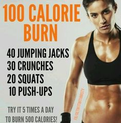 So as well as my t25 stretch this morning and also day 7 of my 30 day ab challenge, I did a workout I found on pinterest which is called the 100 calorie burn...I did it twice but realistically it c...