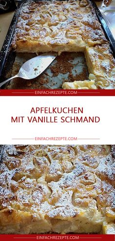 Apfelkuchen mit Vanille Schmand 😍 😍 😍 Sponsored Sponsored Apple cake with vanilla sour cream 😍 😍 😍 Easy Smoothie Recipes, Easy Smoothies, Snack Recipes, Snacks, Lemon Desserts, No Bake Desserts, Sour Cream Apple Pie, Cream Pie, Lemon And Coconut Cake
