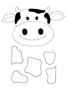 Cow mask template. There is also a coloring page version