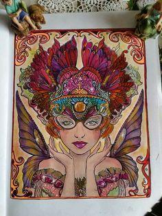 Artist Bennett Klein colorist Diane Vienneau finished