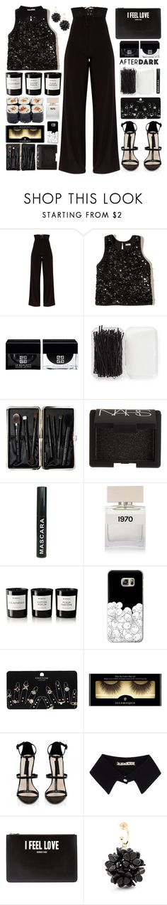 """""""// night vibes //"""" by sinesnsingularities ❤ liked on Polyvore featuring Hollister Co., Givenchy, Forever 21, Bobbi Brown Cosmetics, NARS Cosmetics, Bella Freud, Byredo, Casetify, Topshop and Illamasqua"""
